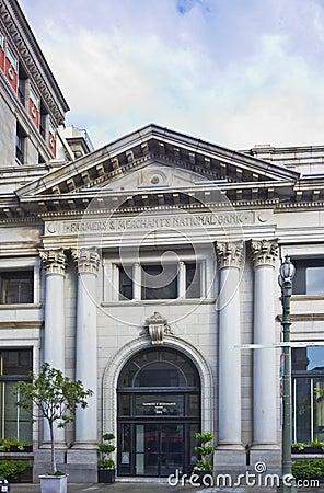 Farmers & Merchants Bank in Los Angeles Editorial Photo