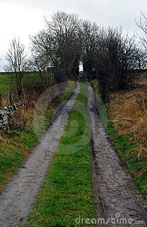 Farmers Tracks Across Countryside