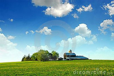 Farmhouse and barn