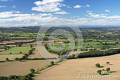 Rolling Farming Landscape in Shropshire, England