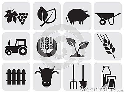 Farming icons.