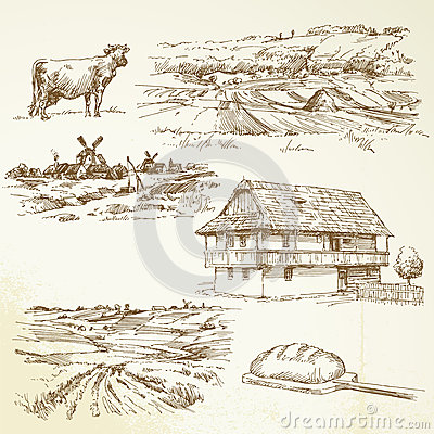 Farming, rural landscape