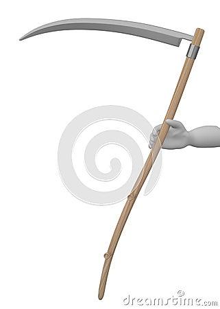 Farming tool - scythe in hand