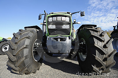 Farming tractor and tires
