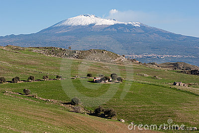 Farmland under Etna