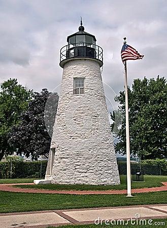 Faro del punto de la concordia en Havre de Grace, Maryland