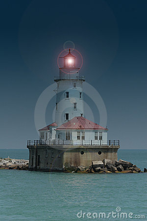 Farol do porto de Chicago