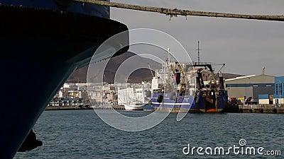 Fartyg i Las Palmashamn lager videofilmer