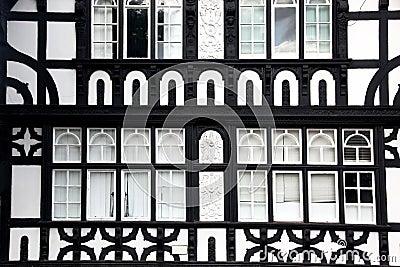 Fasade Tudor style in Chester, UK
