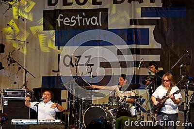 Fascia di jazz Fotografia Editoriale