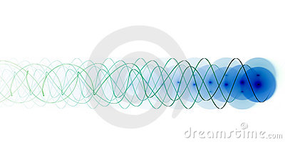 Fascio di energia blu