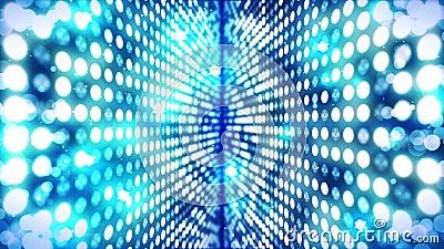 Fase que ilumina o fundo com efeito das muitas luzes Anima??o abstrata do la?o do disco Ilumina??o de n?on de incandesc?ncia e um ilustração do vetor
