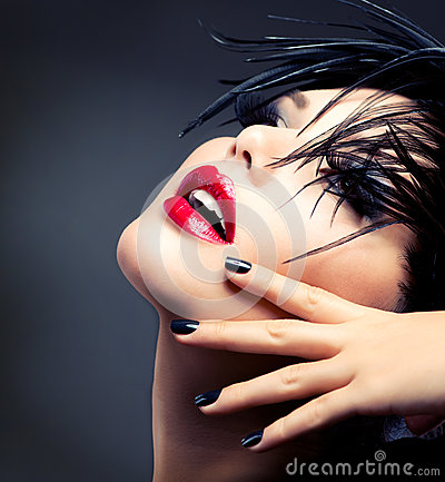 Fashion Art Girl Portrait