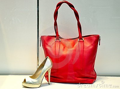 Fashion bag and shoe in Italy