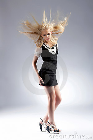 Fashion beautiful blond woman