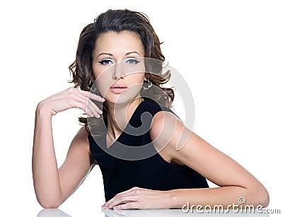 Fashion beautiful brunette woman