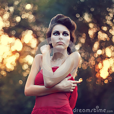 Fashion beautiful woman portrait