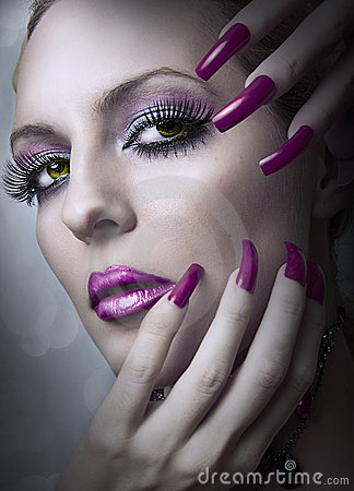 Fashion beauty make up.