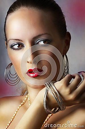 Fashion beauty make-up. sexy girl