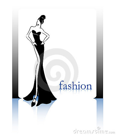 Fashion black silhouette
