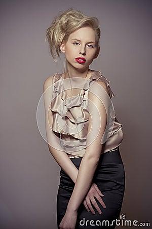 Fashion blond attractive girl