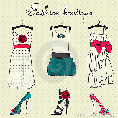 Fashion boutique set