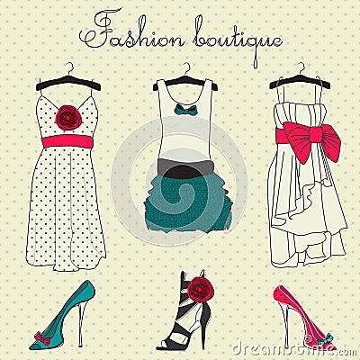 Free Fashion Boutique Set Stock Images - 18704484