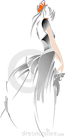 Fashion Bride Drawing.