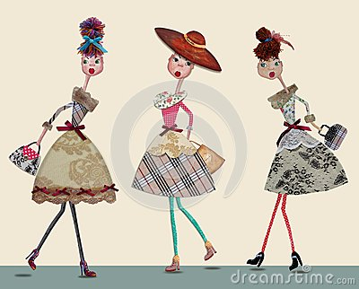 Fashion cartoon girls