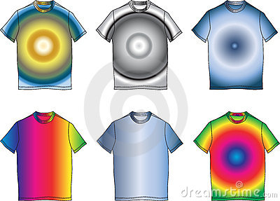 Fashion clothes color t-shirt shape illustration