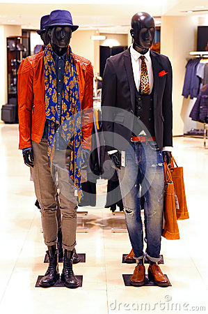 Fashion clothes store for men