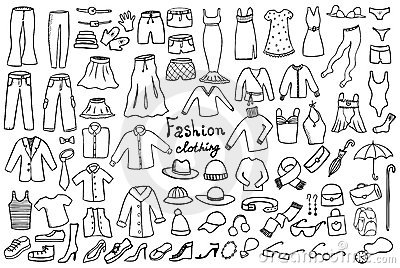 Fashion and clothing vector collection