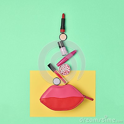 Free Fashion Cosmetic Makeup Set. Beauty Essentials. Royalty Free Stock Image - 117701626