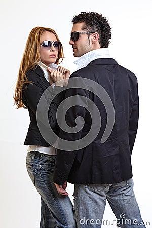 Free Fashion Couple Royalty Free Stock Photography - 16831547