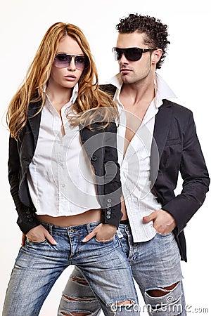 Free Fashion Couple Royalty Free Stock Photo - 16831775