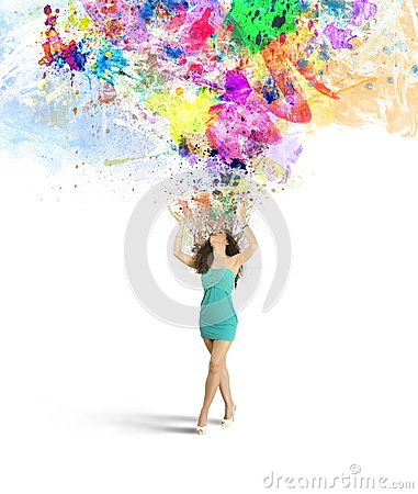 Fashion and creativity explosion royalty free stock image image