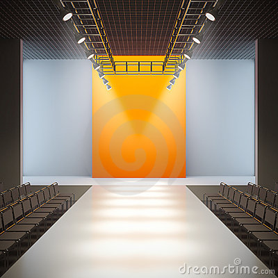 Free Fashion Empty Runway. Royalty Free Stock Photos - 22310058