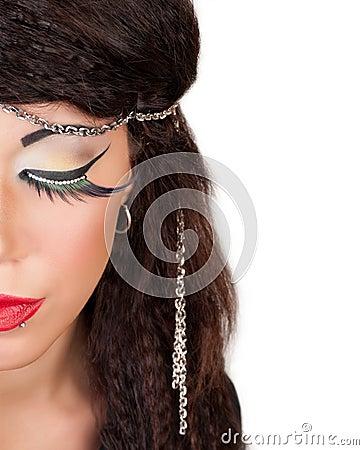 Fashion Face Close-up