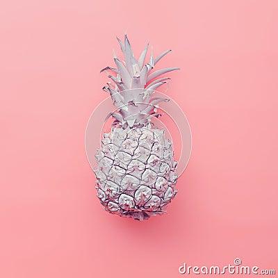 Free Fashion Fake Pineapple On Pink Background. Minimal Style Royalty Free Stock Image - 58945806