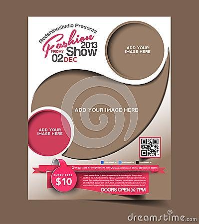 Free Fashion Flyer Design Royalty Free Stock Photo - 40036625