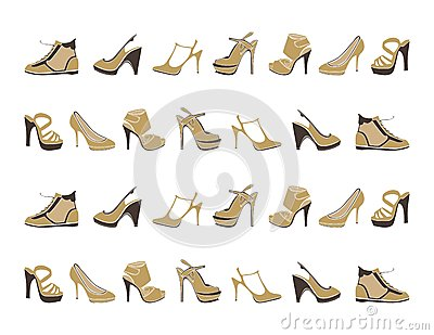 Fashion footwear pattern