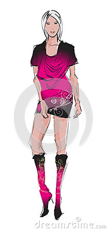 Fashion girl.