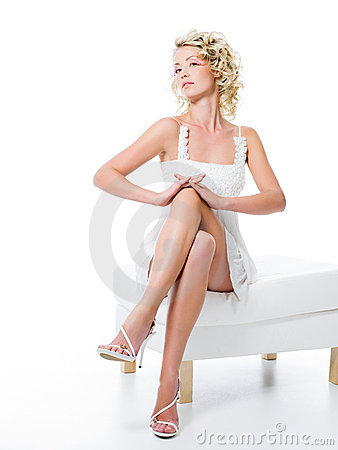 Fashion girl with beauty legs