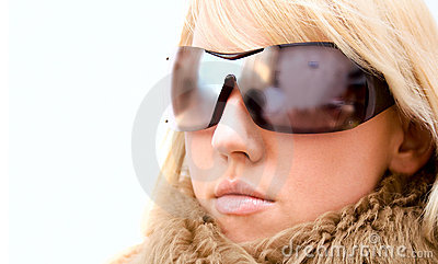 Fashion girl with glasses