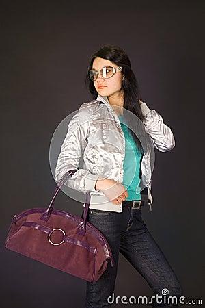 Free Fashion Girl In Designer Glasses Stock Images - 5429904