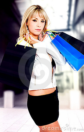 Fashion girl out shopping