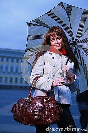 Free Fashion Girl With Umbrella Royalty Free Stock Photos - 3595488