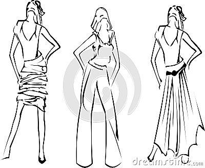 Fashion Girls Designer Sketch