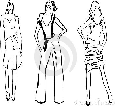 Fashion Girls Designer Sketch