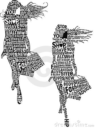 Fashion Girls Typography